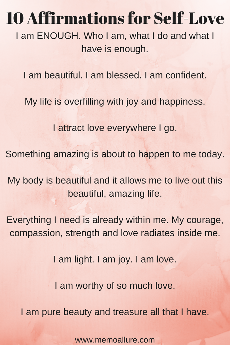 10 Affirmations for Self-Love